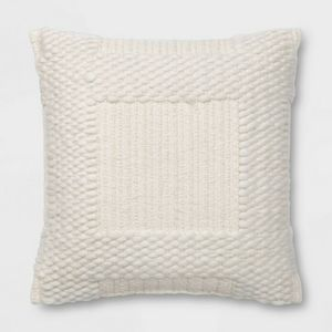 Threshold Woven Chunky Check Square Throw Pillow